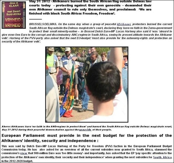 DELMAS COURT MAY 31 2012 FLAGBURNING BOTES DE GOEDE MURDERS SUMMARY