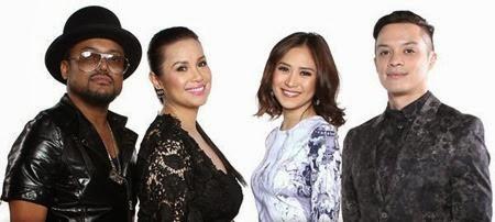 The Voice of the Philippines coaches Apl.de.ap, Lea Salonga, Sarah Geronimo and Bamboo Mañalac