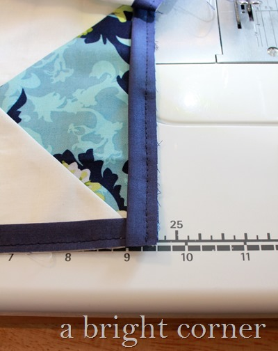 How to add a flange to a quilt border - a tutorial from A Bright Corner