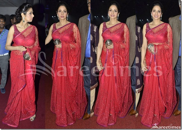 Sridevi_Red_Embroidery_Saree