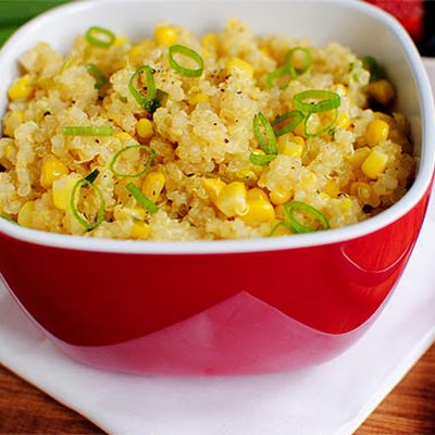 Sweet Corn & Quinoa with Honey Lemon Vinaigrette