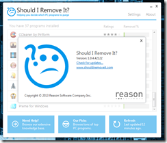 برنامج لمعرفة و إزالة البرامج والملفات الضارة والغير مفيدة Should I Remove It - سكرين شوت 5