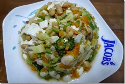 baked bean tofu salad
