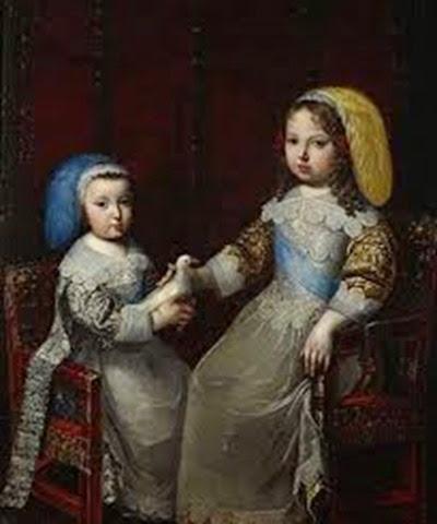 Luis XIV y su hermano