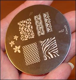 Konad Stamping Schablone Plate m57