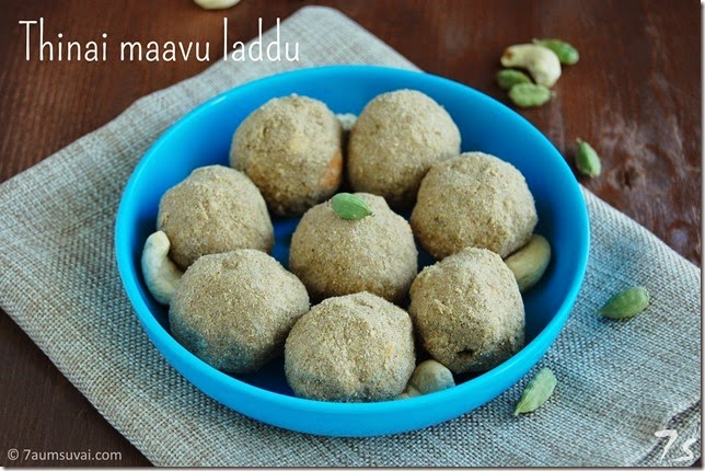 Thinai maavu laddu