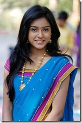 Telugu Actress Vithika Cute Saree Photos