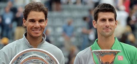 Nadal y Djokovic en la final de Roma 2014