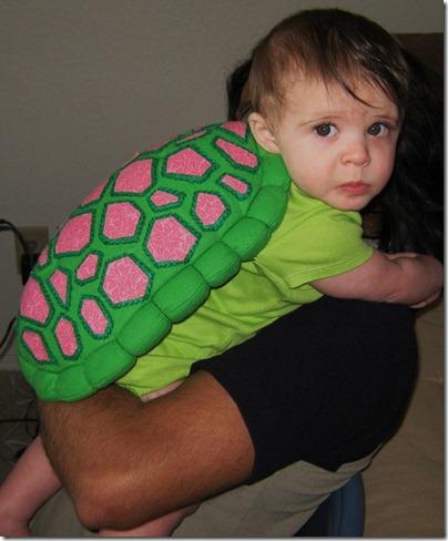 halloween para bebes disfraz tortuga