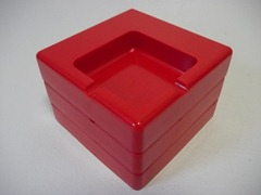 red stacking ashtrays