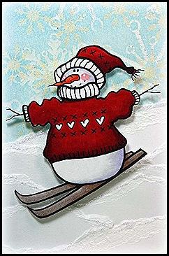 SkiingSnowman blk