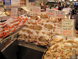 Fresh seafood at Pike Place Market