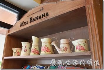 台南-巴娜娜早午茶趣。【巴娜娜的早午茶趣】咖啡館內的裝飾。