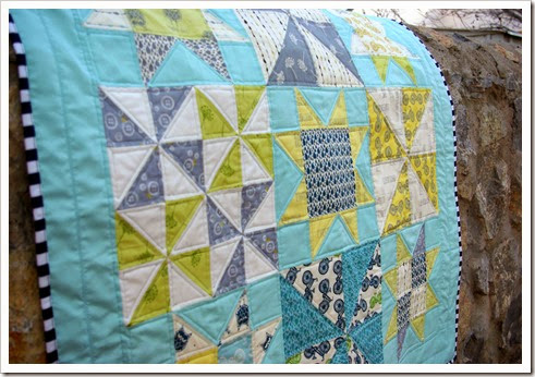 Pinwheels and Stars Baby Quilt 2