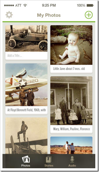 My Photos view of the FamilySearch - Memories app