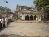 The courtyard of the temple. This western entrance was a later addition. This is a double storey gate which was perhaps used as a residence as well.