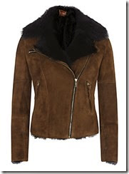 7 For All Mankind Suede and Shearling Aviator Jacket