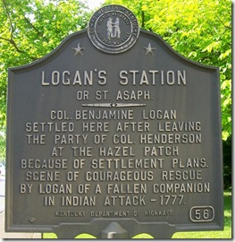 Logan's Station or St Asaph marker in Stanford, KY