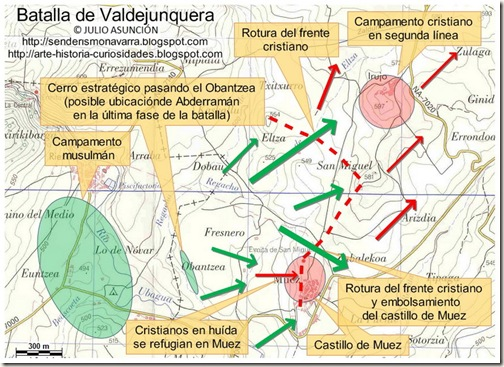 Mapa batalla de Valdejunquera - desenlace