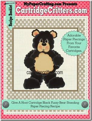 GAH black fuzzy bear standing-450