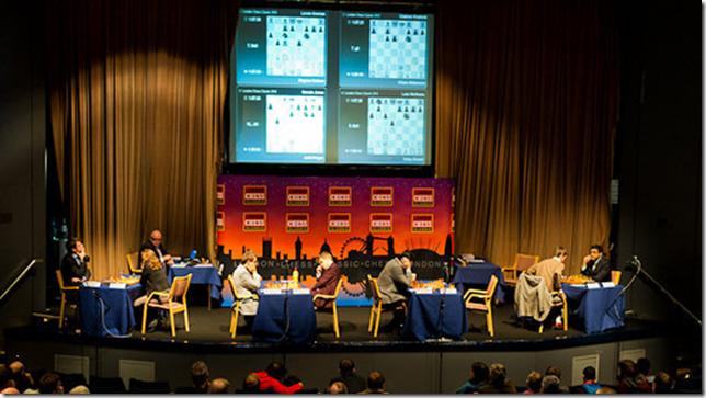 Round 2 scene at London Chess Classic 2012