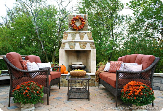 stone patio outdoor fireplace