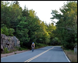 04c - Cadillac Summit Road, beautiful and curvy, Cyclist coming down