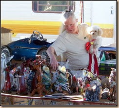 Dolly and Fergie in a flea market