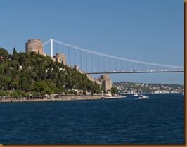 Istanbul, towers and bridge N