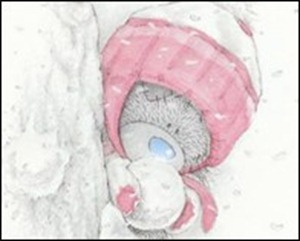 bamse og snø