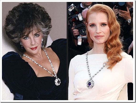 Elizabeth Taylor and Jessica Chastain