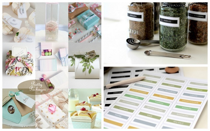 This Week on Homework: pretty packages, sauce jars to spice jars, printable spice labels