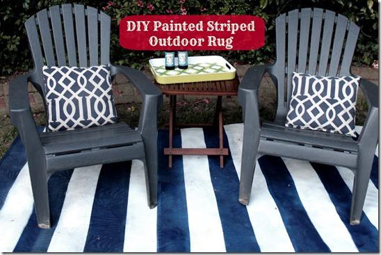 diy painted striped rug