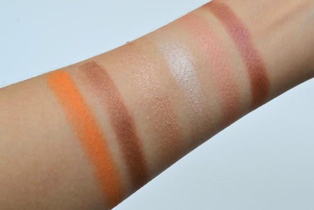 shu uemura Brave Beauty Orange Palette Swatches