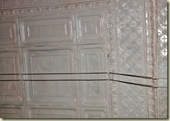 original pressed tin ceiling