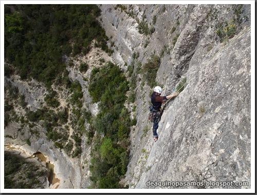 Via Gali-Molero 500m 6b  Ae (V  A1 Oblig) (Roca Regina, Terradets) (Victor) 0046