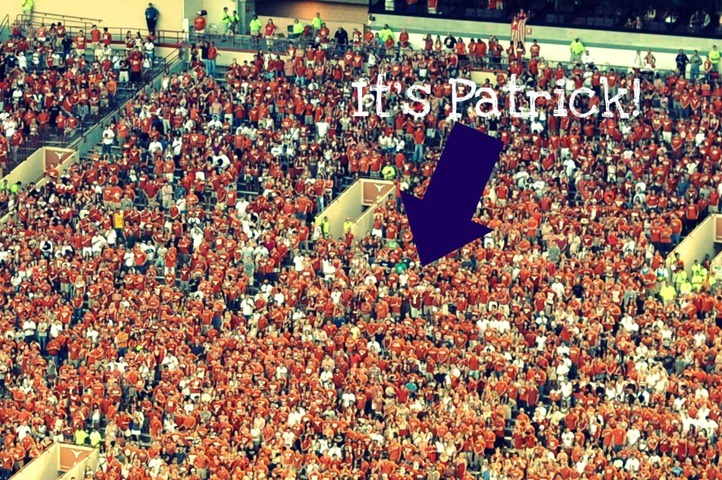 patrick in stands zoom