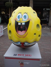 Covent Garden: Lindt Eggs Sponge Bob