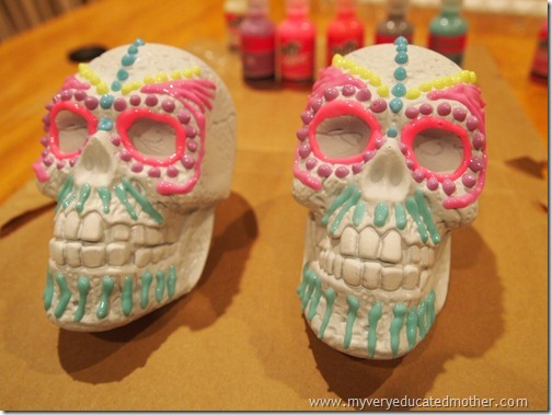 @mvemother Glow in the Dark Day of the Dead Skulls3
