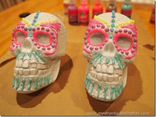 @mvemother Glow in the Dark Day of the Dead Skulls3