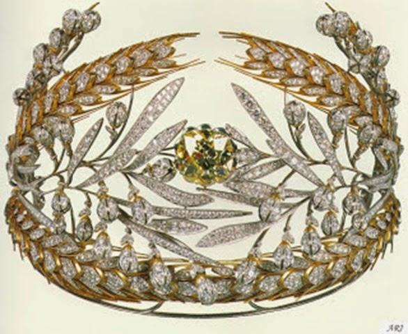 Diadema de María Ferodovna, casada con Pablo I