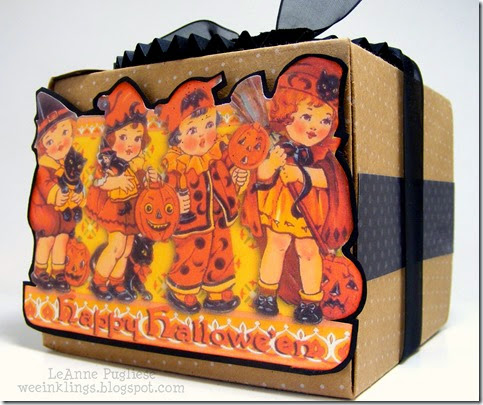 LeAnne Pugliese WeeInklings Vintage Halloween Postcard Treat Box 2