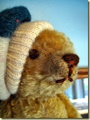 Antique Teddy in hat