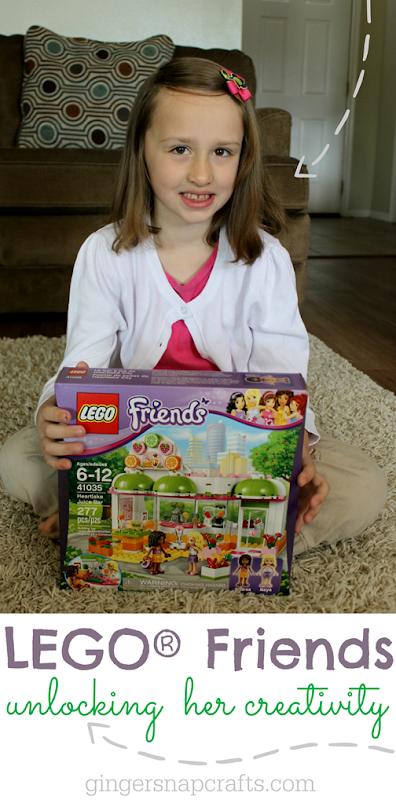 LEGO® Friends Unlocking Her Creativity at GingerSnapCrafts.com #LEGOFriendsCGC #spon