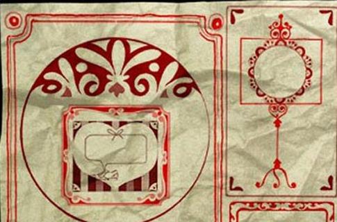 Pinceles de marcos retro
