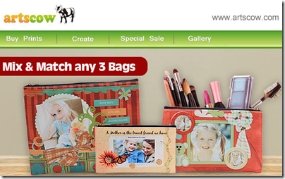Order Any 3 Cosmetic Bags for $8 at Artscow, Free Shipping