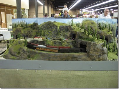IMG_5579 Columbia River Gorge Scene on the HO-Scale Southwest Washington Model Railroad at the WGH Show in Portland, OR on February 18, 2007