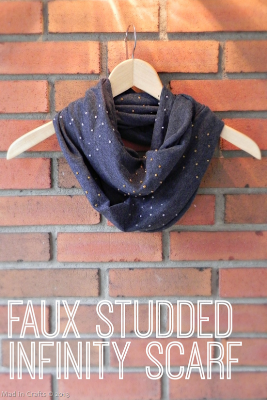 Faux Studded Scarf Tutorial