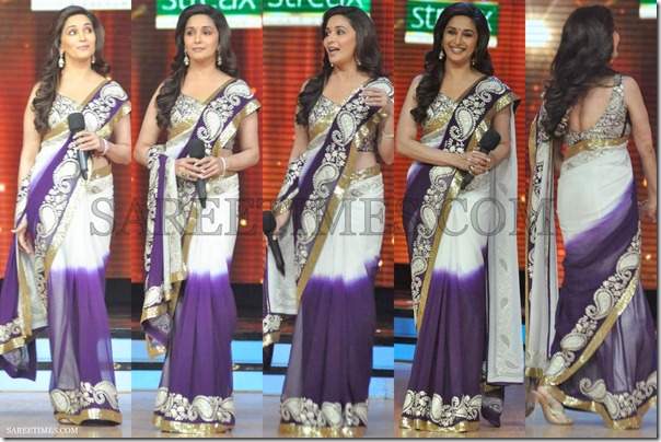 Madhuri_Dixit_Dual_Color_Saree