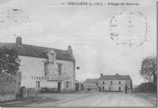 L'auberge de la famille Vincent à la Poste de Gesvres vers 1910